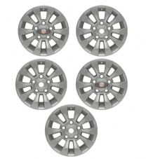 "LAND ROVER DEFENDER SAWTOOTH STYLE ALLOY WHEEL SILVER 18""X 8"" SET OF 5 - DA6549"